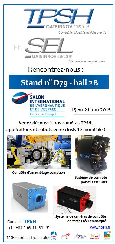 TPSH et SEL au Salon International de l'Aéronautique et de l'Espace 2015