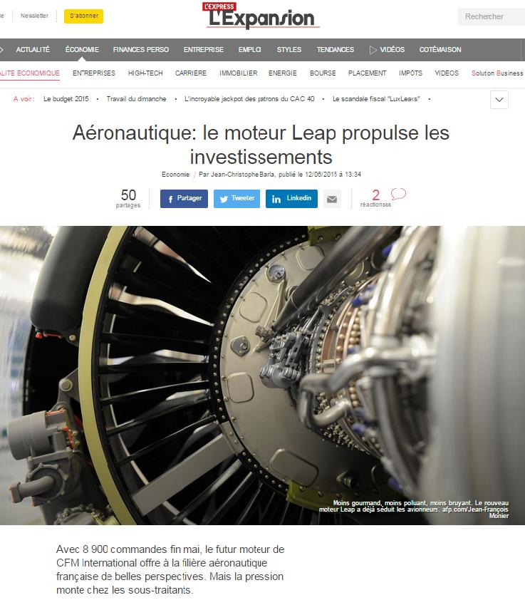 Moteur Leap L'EXPRESS 2015