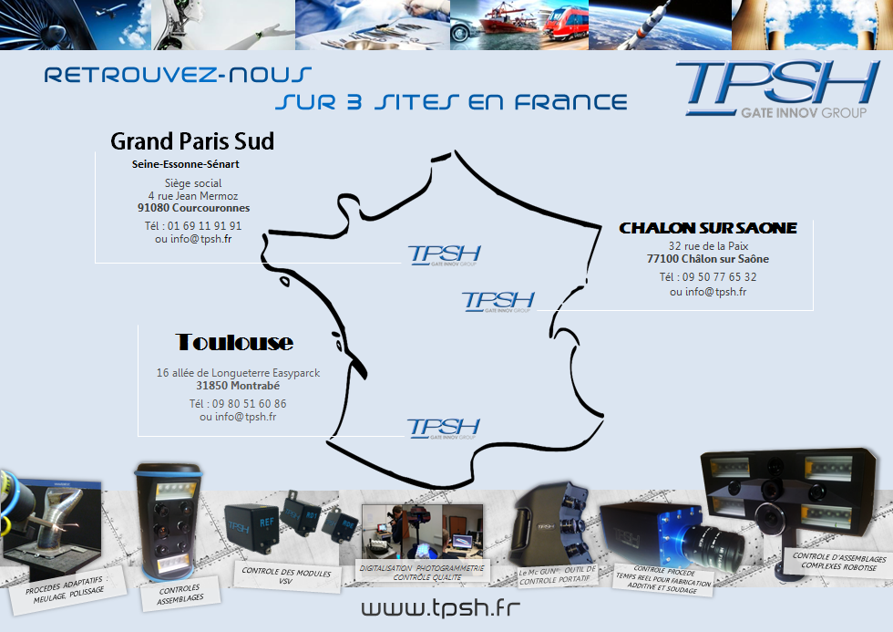 TPSH_nos trois sites en france_IDF_ Toulouse_Chalon