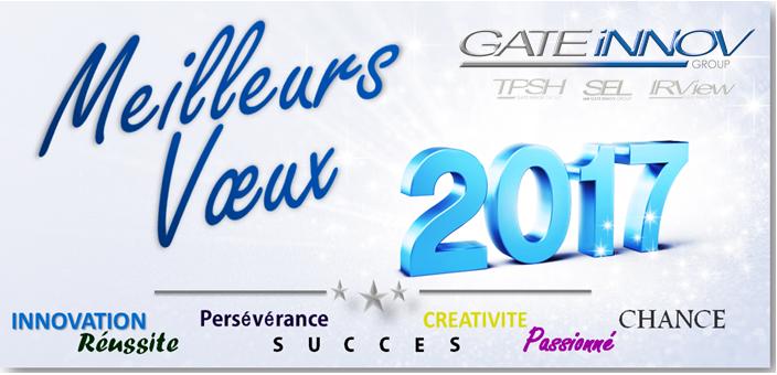 Gate Innov vous présente ses meilleurs voeux 2017