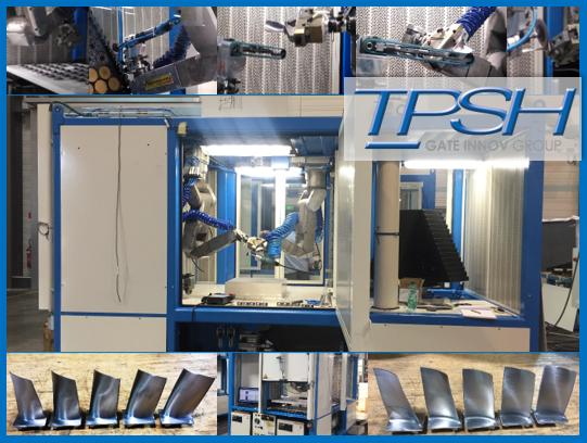 TPSH_polissage robotisé et automatisé_pale aeronautique