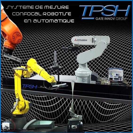 système de mesure confocale robotisé