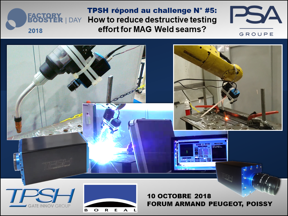 Caméra TPSH infrarouge suivi bain de fusion soudage OPEL