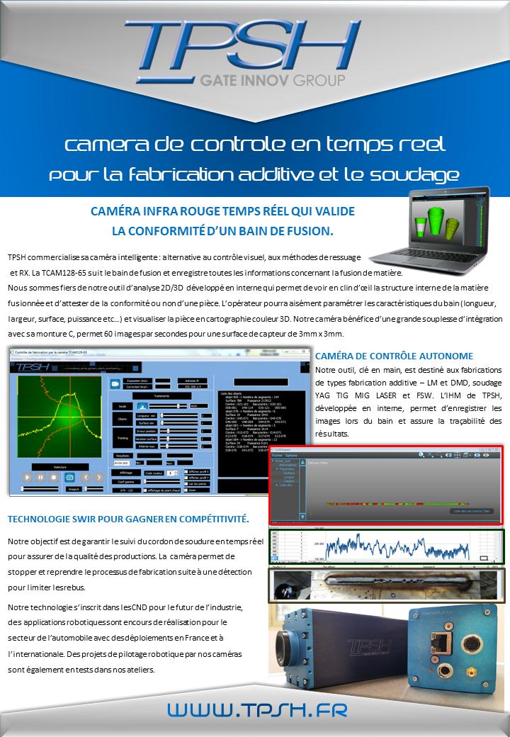 TCAM12865_TPSH_camera de soudage_suivi bain de fusion_fabrication additive