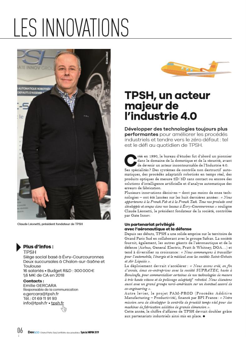 TPSH_un acteur majeur de l'industrie 4.0