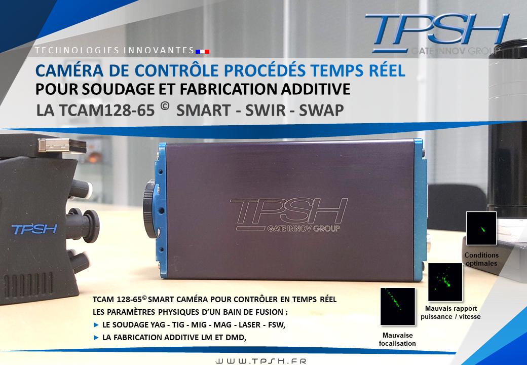 Caméra SMART, SWIR, SWAP,contrôle bain de fusion_TCAM12865_TPSH