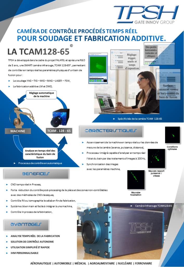 Caméra de contrôle temps réel des procédés de soudage_TCAM128-65_TPSH