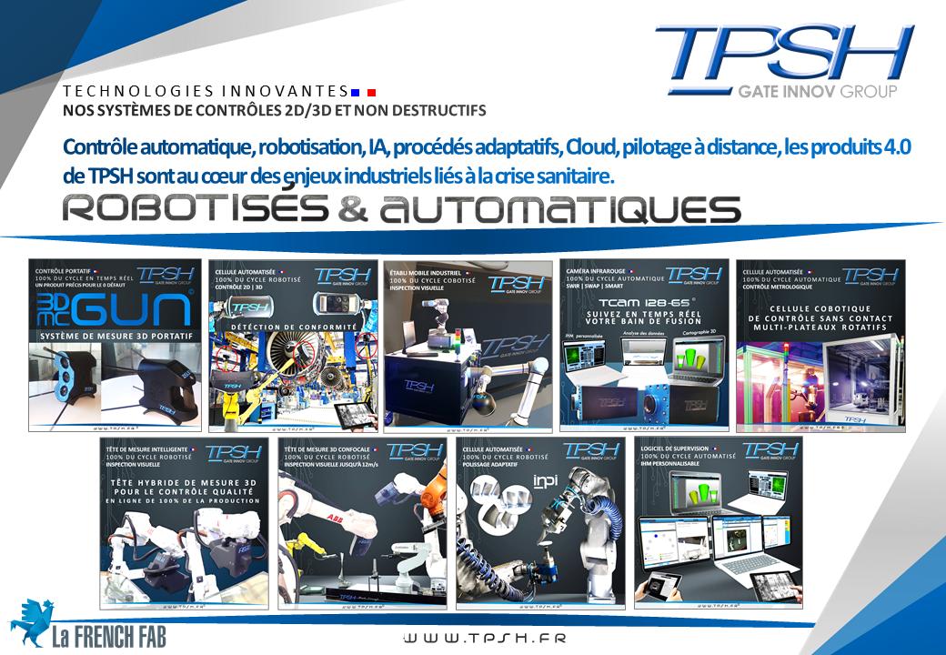Contrôle automatique, robotisation, IA, procédés adaptatifs, Cloud, pilotage à distance, les produits 4.0 TPSH_au cœur des enjeux industriels liés à la crise sanitaire.