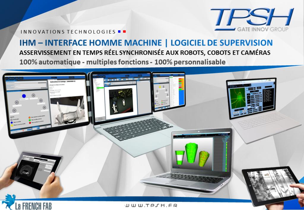 IHM_Logiciel de supervision_asservissement temps réel_robot_cobot_caméra_TPSH