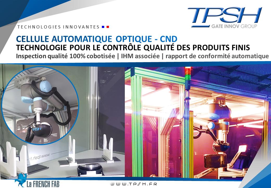 Cellule CND automatique_cobotique_contrôle qualité_produits finis_TPSH