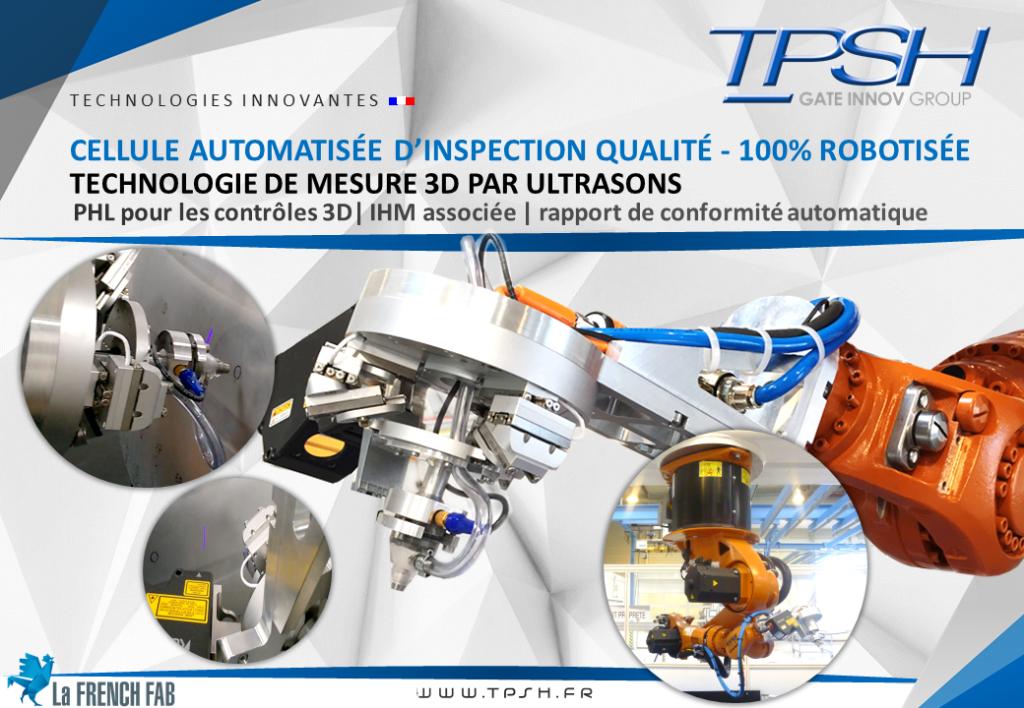 Cellule automatisée_robotisée_mesure 3D par ultrasons_inspection qualité_TPSH