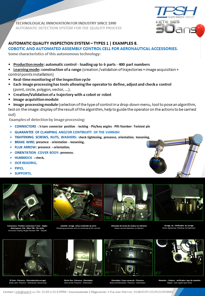 AUTOMATIC QUALITY INSPECTION SYSTEM - TYPOLOGIES_EXAMPLES_TPSH